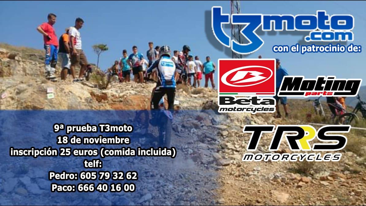 RESULTADOS 9ª PRUEBA TROFEO T3MOTO